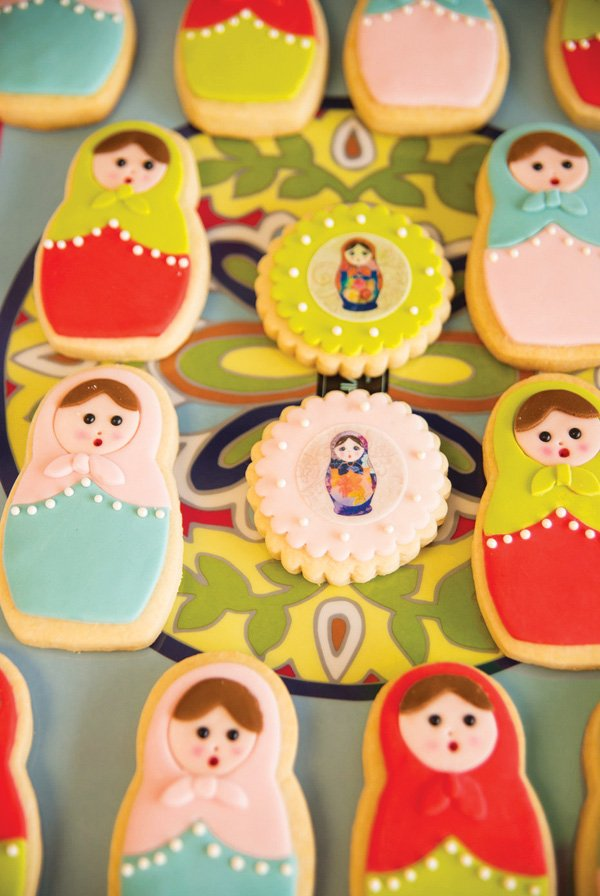 nesting doll cookies