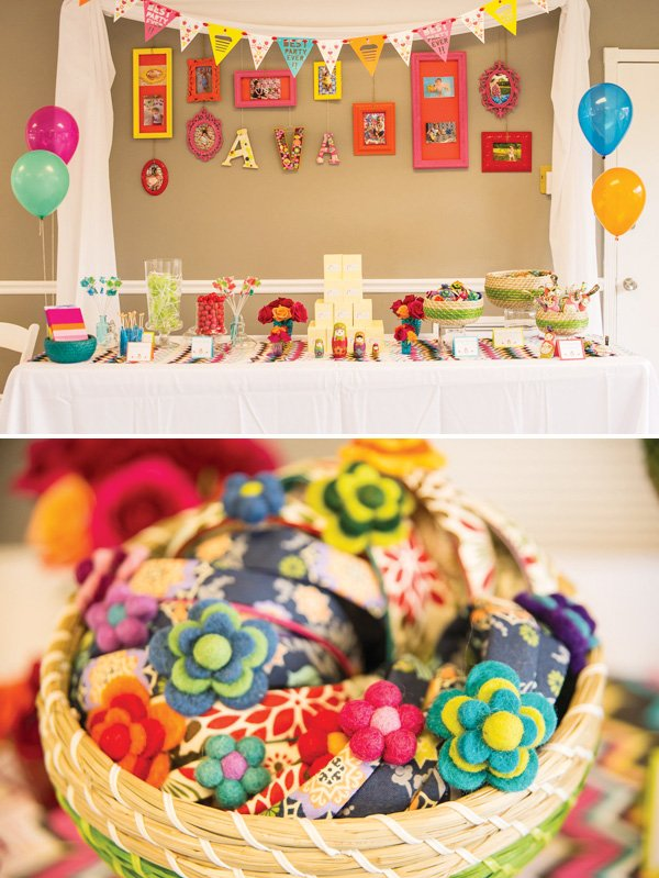 playful nesting doll party theme first birthday hostess with