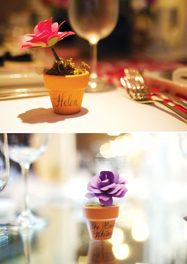 flower name cards for an nyc bridal shower