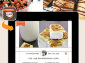 foodie ipad recipe - key lime pie marshmallows