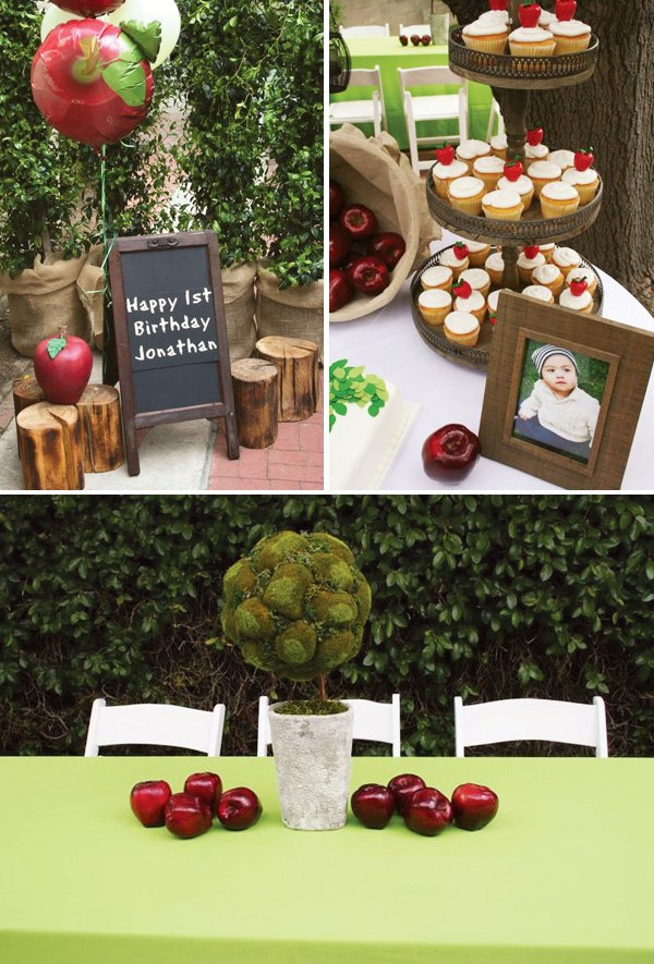 giving tree first birthday theme
