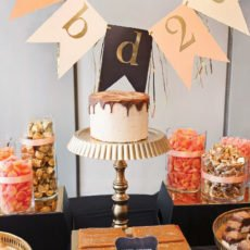 glam gold birthday cake ideas