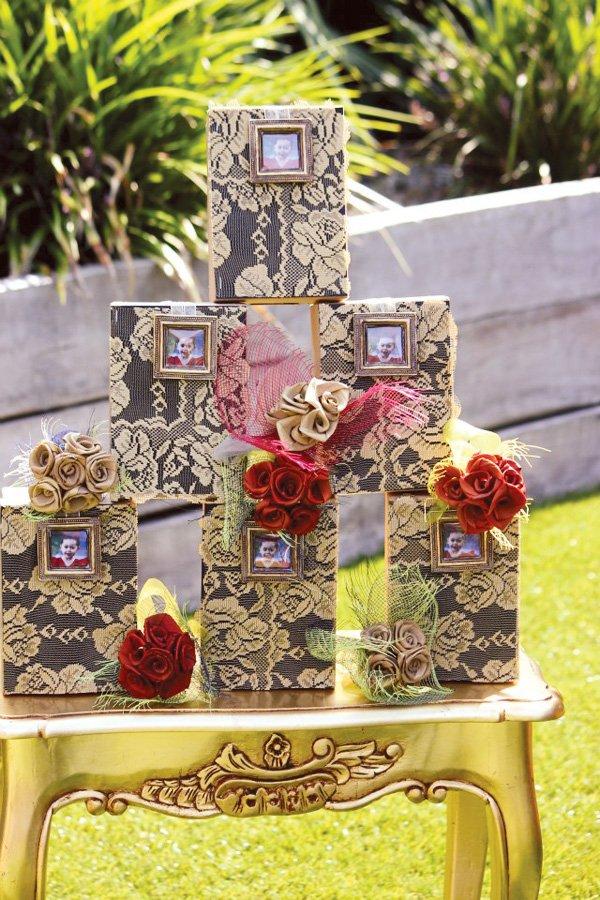 Gold Lace Favor Boxes