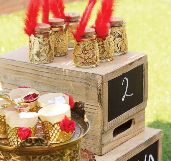 Beautiful Red Rose Amp Gold Flamenco Party Theme Hostess
