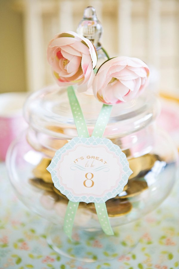 flower embellished jar