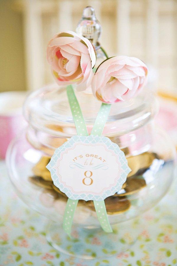 flower embellished jar