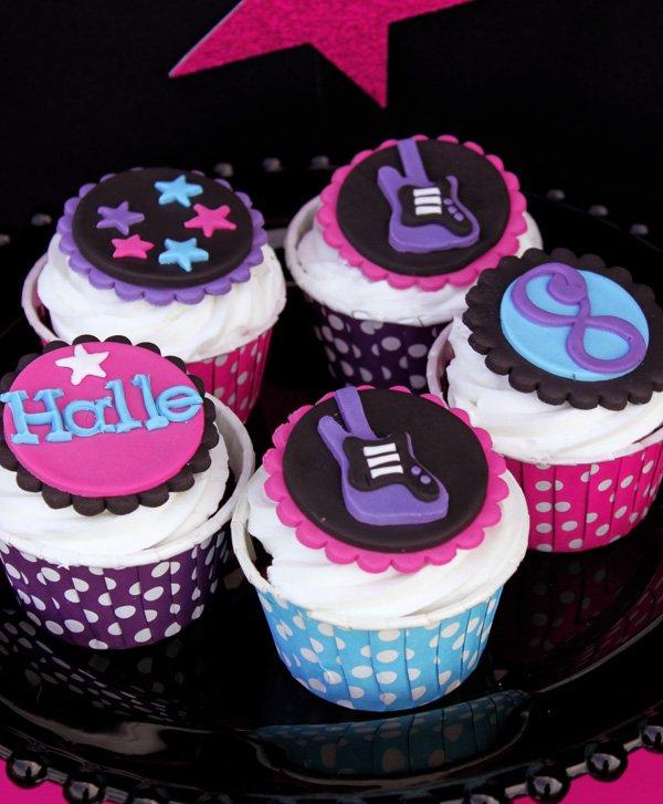 guitar cupcake toppers