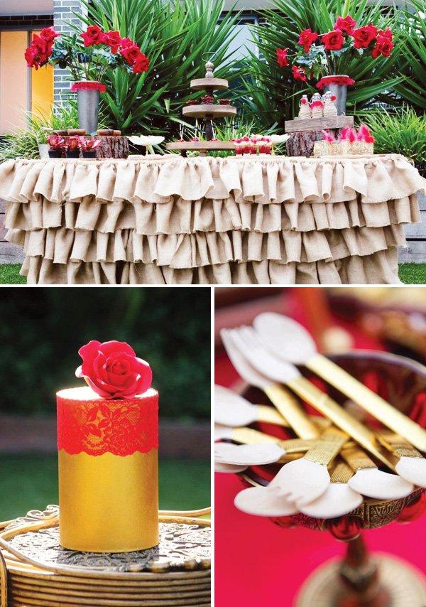 Flamenco Inspired Dessert Table