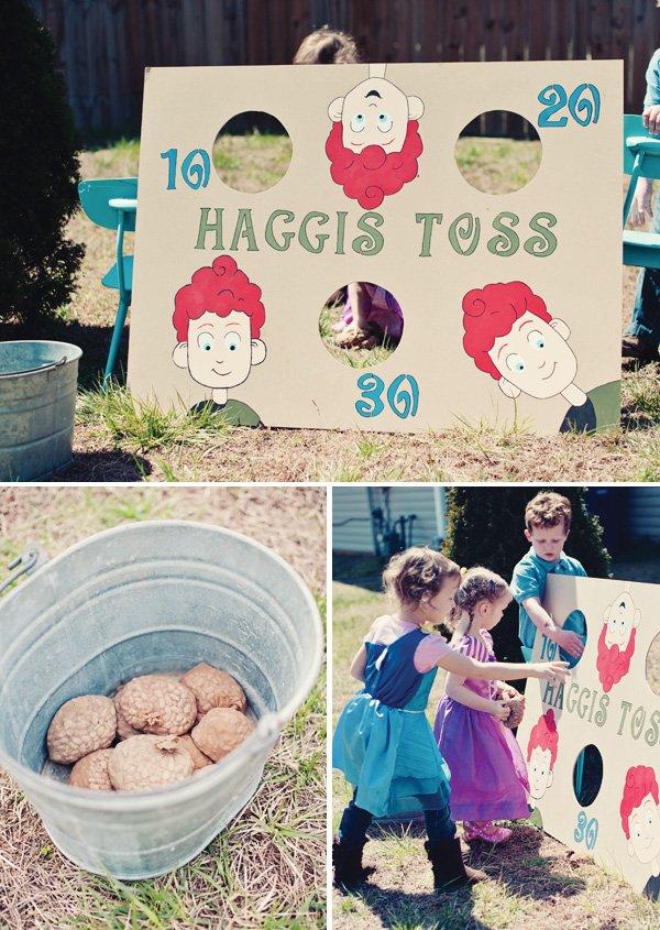 haggis toss game
