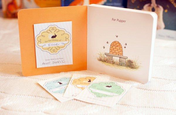 free printable bookplates - baby shower