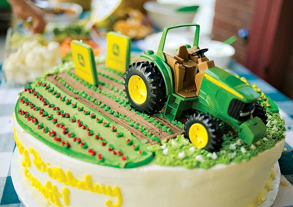 John Deere Inspired Tractor Birthday Party Hostess with the