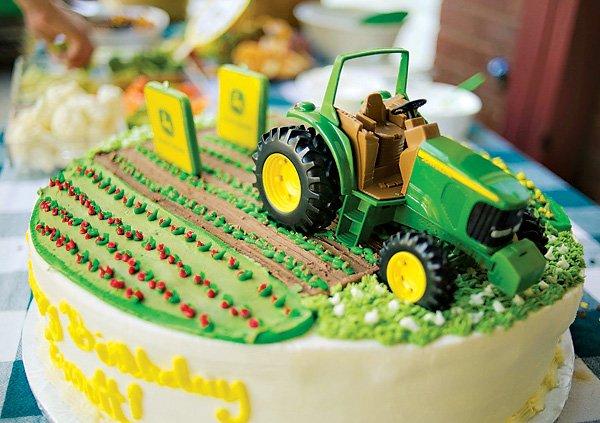 Awe Inspiring John Deere Inspired Tractor Birthday Party Hostess With The Funny Birthday Cards Online Amentibdeldamsfinfo