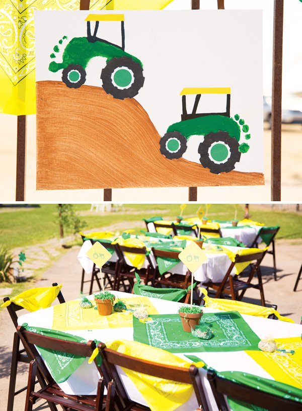 john deer themed party