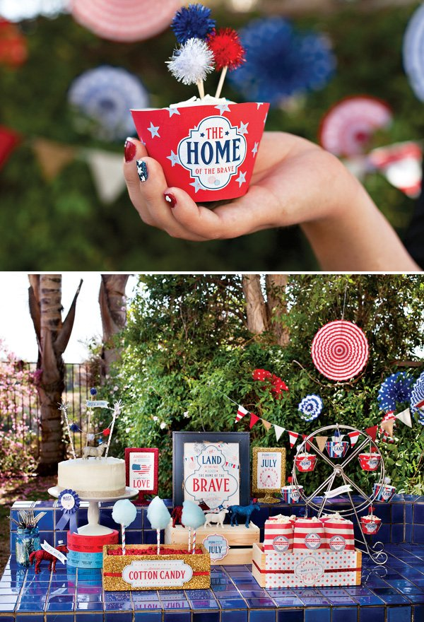 patriotic july 4th dessert table