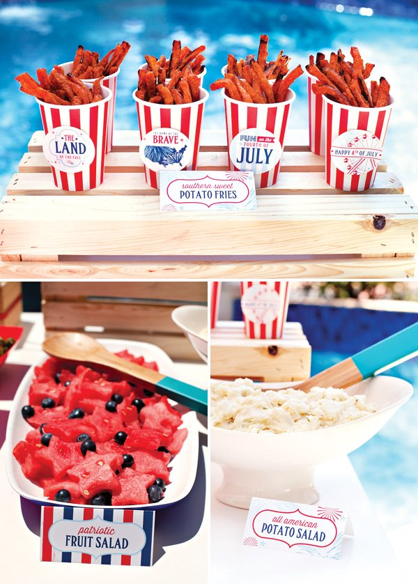All american county fair 4th of july party hostess for July 4th food ideas