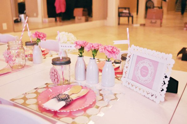 ballerina party table setting