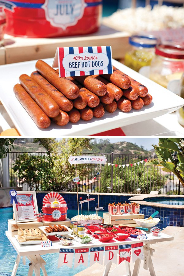 kosher hot dogs for a summer grilling party