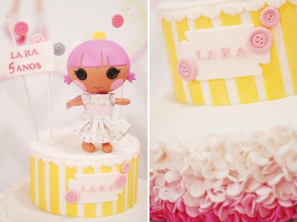 pink lalaloopsy cake