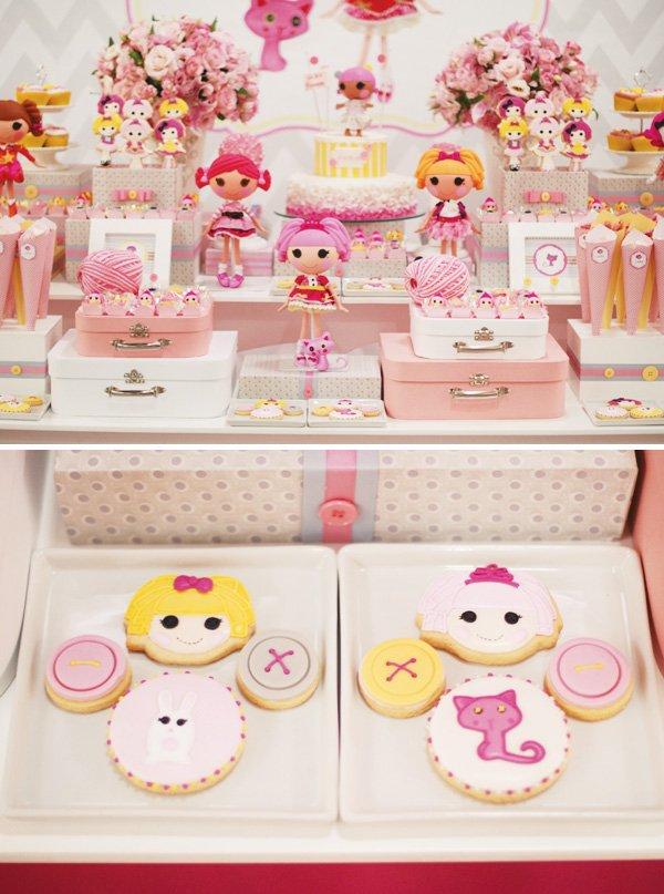 pink lalaloopsy cookies