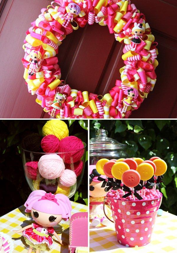 lalaloopsy party wreath