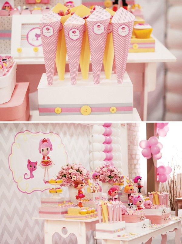 pink lalaloopsy dessert table