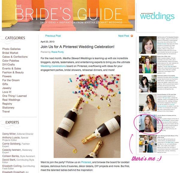 Martha Stewart Weddings Pinterest - HWTM