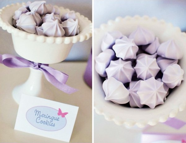 purple meringues