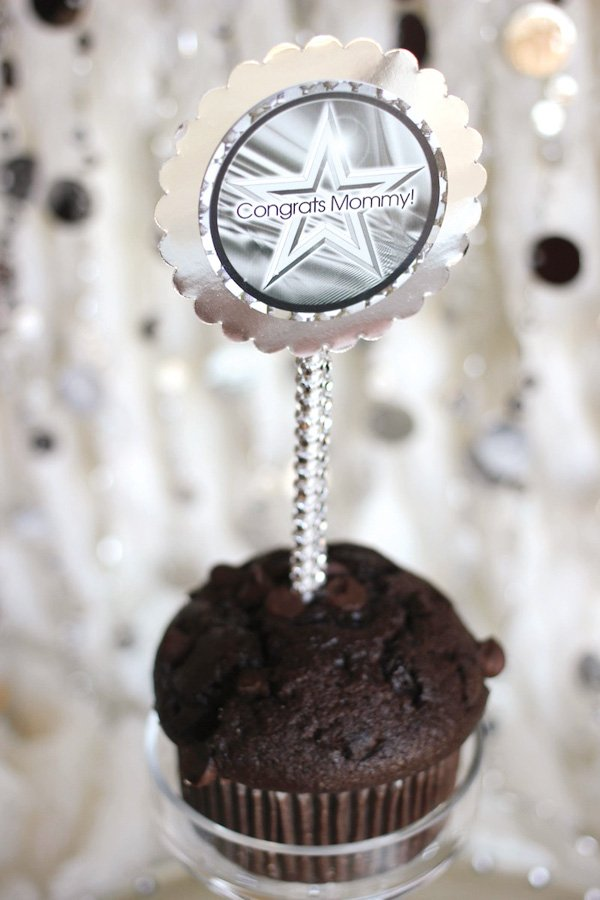 mommy muffins for a blinged out baby shower