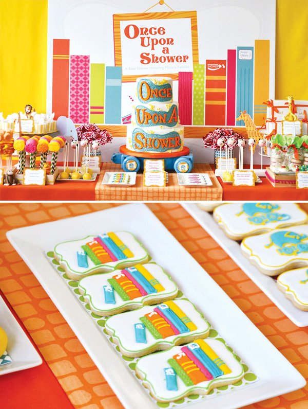 book themed dessert table