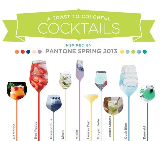 pantone cocktails