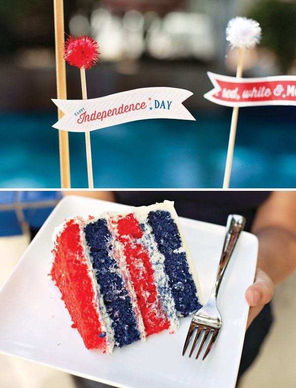 layer cake for a july 4th dessert table