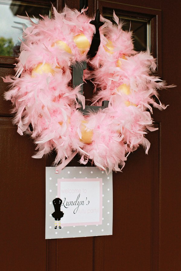pink boa wreath