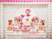 pink lalaloopsy dessert table
