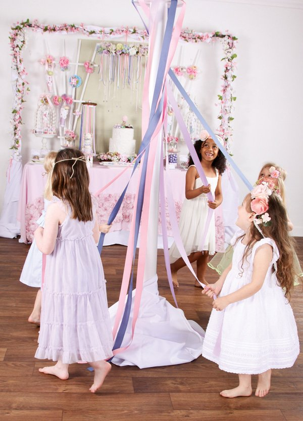 pink maypole party ideas