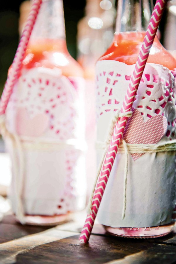 pink heart party drinks