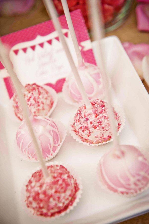 pink sparkley cake pops