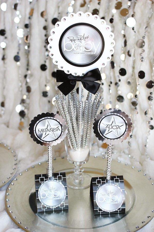 pop arazzi baby shower centerpiece