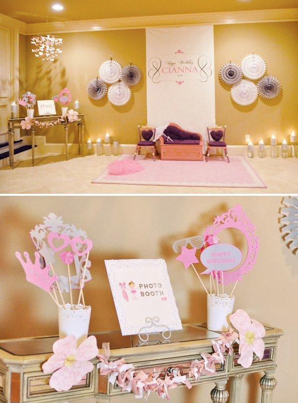 Princess ballerina photo booth ideas