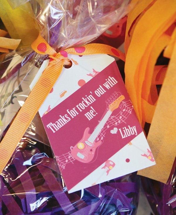 Rockstar Birthday Party Favors