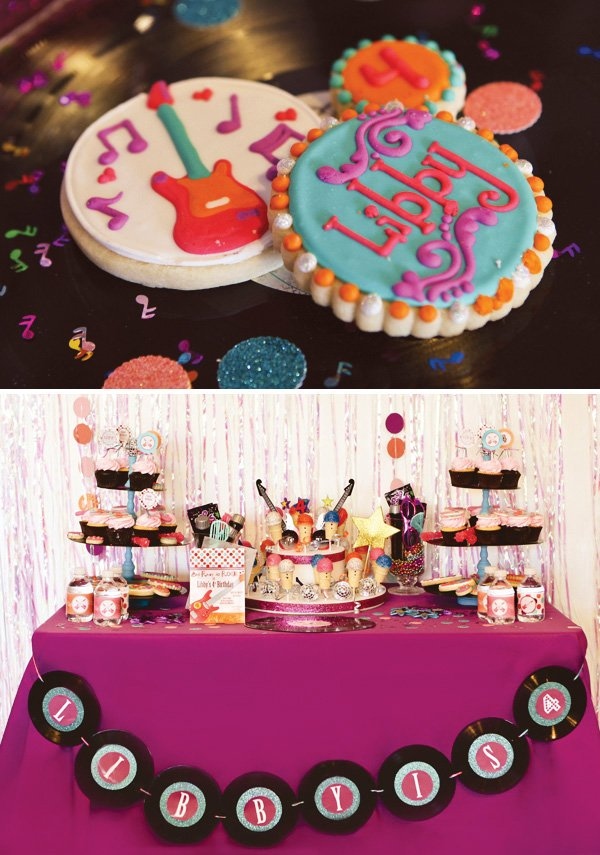 Rockstar Party Dessert Table