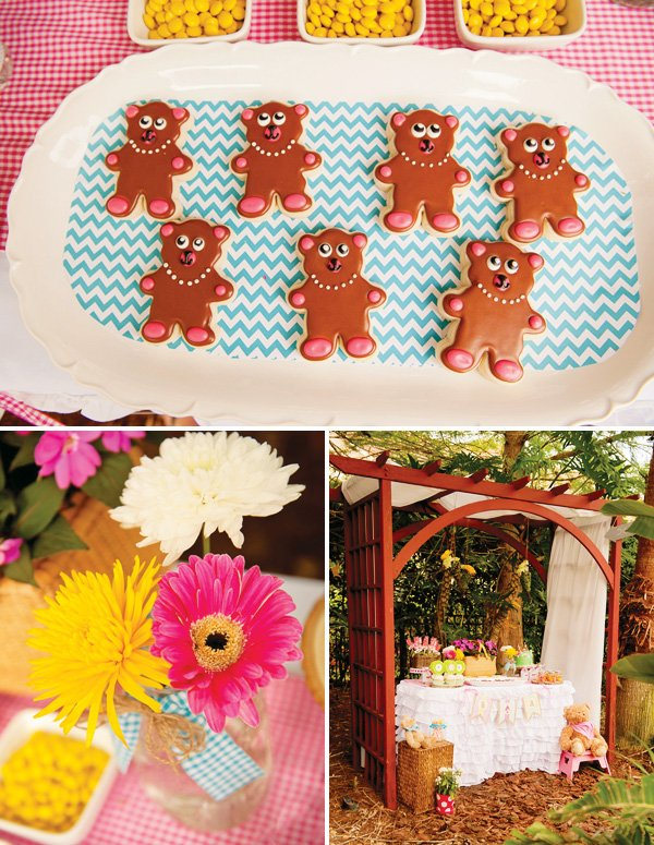 teddy bear cookies for a teddy bear picnic party