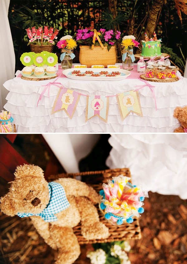 teddy bear picnic themed party
