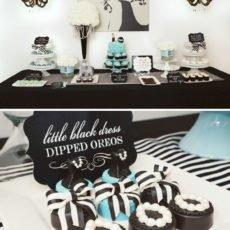 tiffany inspired dessert table