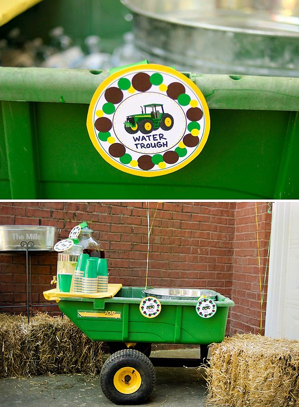 John Deere Inspired Tractor Birthday Party Hostess