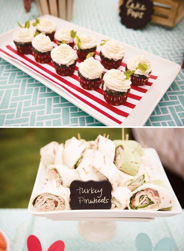 Turkey Pinwheels Party Food