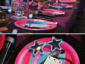 Hot Pink Rockstar Birthday Table Design