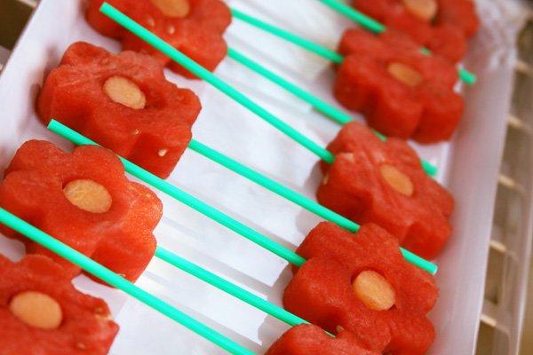 watermelon flower pops