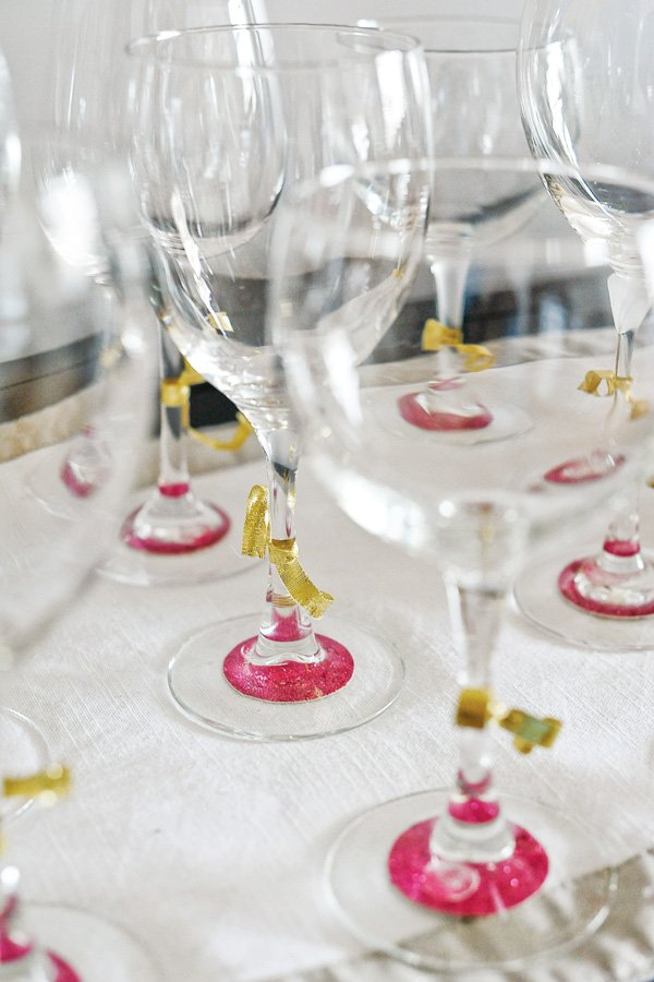 wine glass embellishment ideas