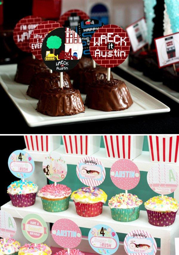 arcade cupcakes