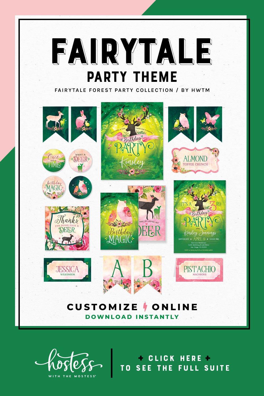 Fairytail Forest Birthday Printables